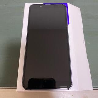 アクオス(AQUOS)のau shv48 ブラック(スマートフォン本体)