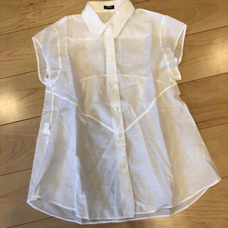 ジルサンダー(Jil Sander)の透け感フレンチスリーブシャツ(シャツ/ブラウス(半袖/袖なし))