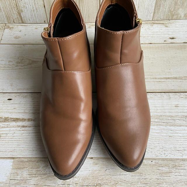 SM2(サマンサモスモス)のキャメルショートブーツ レディースの靴/シューズ(ブーツ)の商品写真