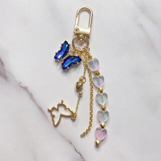 goldbutterflykey ring blue(キーホルダー)