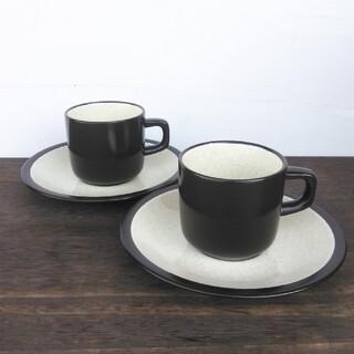 ミカサ(MIKASA)の【訳あり特価】ミカサ テラストーン バニラ カップ&ソーサー 2客(食器)