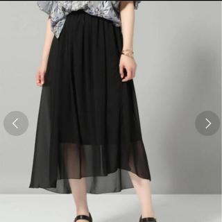 ハレ(HARE)のHARE ムジガラアシメスカート(ひざ丈スカート)