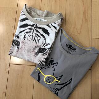 H&M - 2枚セット アニマルTシャツ