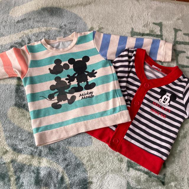 Disney(ディズニー)のミッキー トレーナー  カーデset キッズ/ベビー/マタニティのキッズ服男の子用(90cm~)(Tシャツ/カットソー)の商品写真