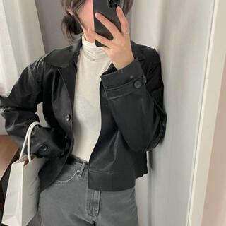 STYLENANDA - 【予約商品】韓国製 フェイク レザージャケット 韓国ファッション 春服