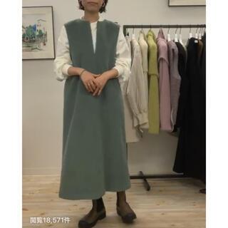 ドゥーズィエムクラス(DEUXIEME CLASSE)のmachatt ウールジャンパースカート(ロングワンピース/マキシワンピース)