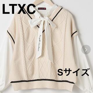 lovetoxic - LTXC ウォッシャブル ベストレイヤード風ブラウス
