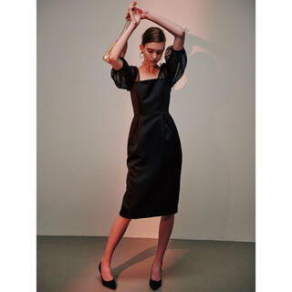 ラグナムーン(LagunaMoon)のラグナムーン ドレス ブラック(ミディアムドレス)