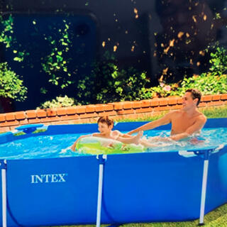 INTEXインテックス レクタングラフレームプール