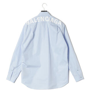 Balenciaga - バレンシアガ バックロゴシャツ ブルー 37