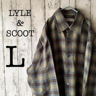 LYLE&SCOTT - 【オススメ】古着 90's ライルアンドスコット メンズ シャツ 刺繍ロゴ