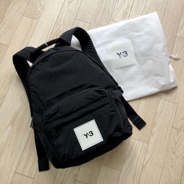 Y-3(ワイスリー)の新品 新作✨ Y-3 ロゴパッチ バックパック ブラック メンズのバッグ(バッグパック/リュック)の商品写真