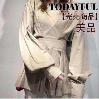 TODAYFUL - 【完売商品】トゥデイフル TODAYFUL タックペプラムシャツ ブラウス