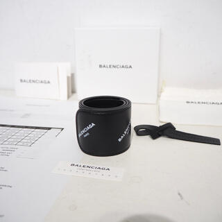 バレンシアガ(Balenciaga)の新品 正規品 BALENCIAGA サイクル ブレスレット 本物 ブラック(ブレスレット)