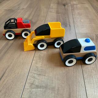 イケア(IKEA)のIKEA 車3台セット(電車のおもちゃ/車)