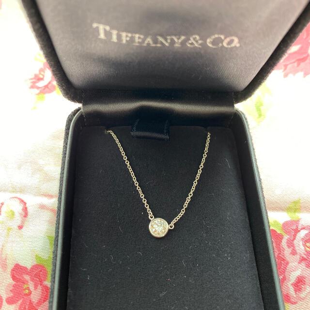 Tiffany & Co.(ティファニー)のティファニー  バイザヤード プラチナ ネックレス ダイヤモンド 0.3 レディースのアクセサリー(ネックレス)の商品写真