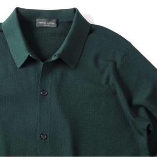 ロベルトコリーナ(ROBERTO COLLINA)の定価4.5万円【ロベルトコリーナ】◆新品/未使用◆最高級ウールニットシャツ◆48(ニット/セーター)