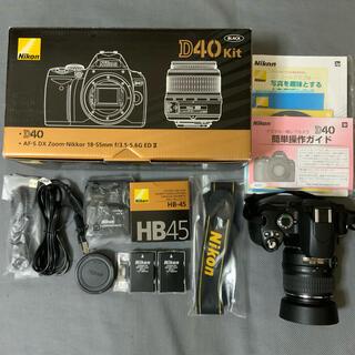 Nikon - とても美品です。Nikon D40 標準ズームレンズセット 別途付属品多数付き。
