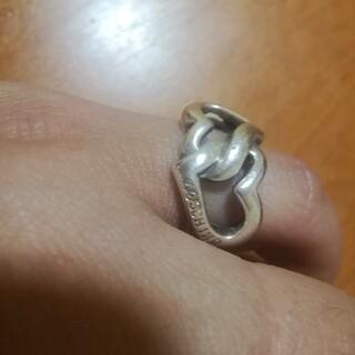 モスキーノ(MOSCHINO)のMOSCHINO❤️純銀10号ダブルリング★お値下げ不可です(リング(指輪))