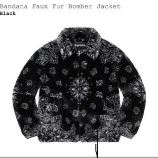 Supreme -  Supreme Bandana Faux Fur Bomber 黒 XL