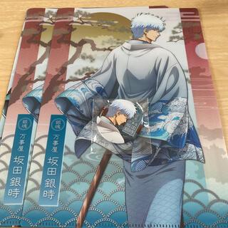 銀魂 THE FINAL 坂田銀時 クリアファイル 缶バッジ 3点セット(クリアファイル)