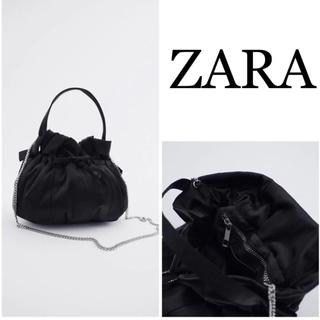 ZARA - 大人気❣⃛ ZARA ザラ サテンミニバケットバッグ