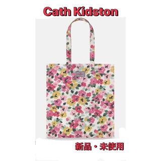 Cath Kidston - キャスキッドソン  トートバック エコバッグ  花柄 パンジー コットン