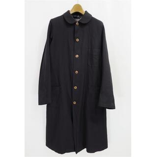 COMME des GARCONS - コムデギャルソン コムコム エステル ロング コート ブラック 丸襟 丸衿