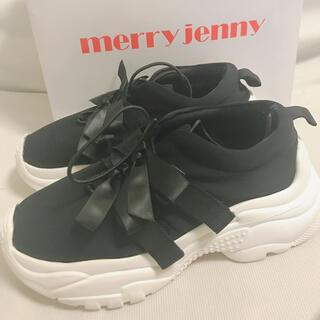 merry jenny - merry jenny リボンスニーカー L
