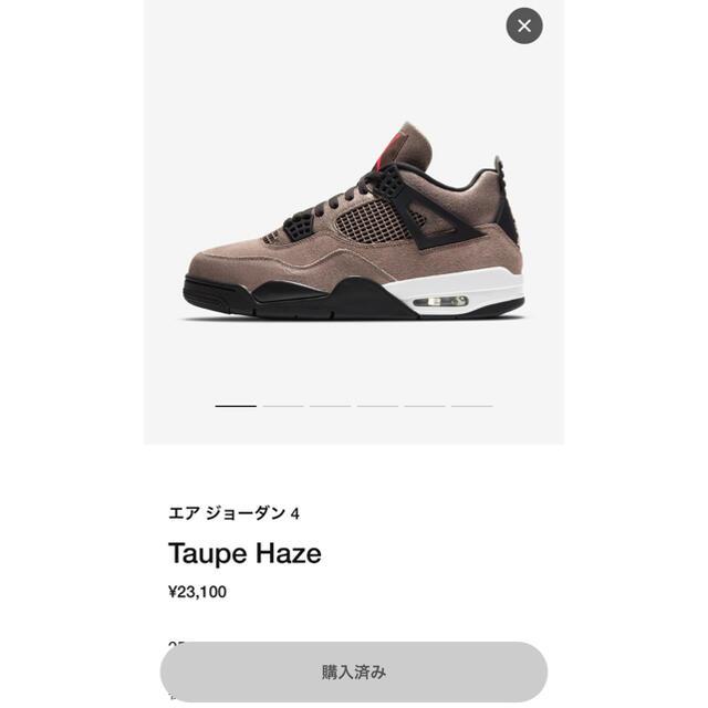 NIKE(ナイキ)のair jordan 4  taupe haze メンズの靴/シューズ(スニーカー)の商品写真