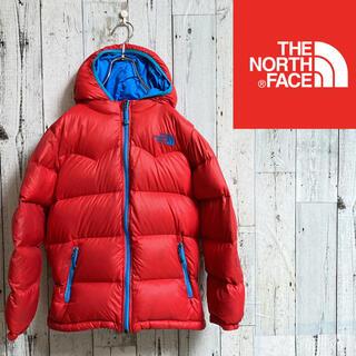 THE NORTH FACE - 訳あり ノースフェイス ダウンジャケット レッド ライトブルー 130