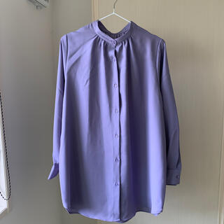 ジーユー(GU)の美品 スタンドカラーシャツ(シャツ/ブラウス(長袖/七分))