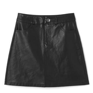 GRL - インパン付きレザースカート GRL