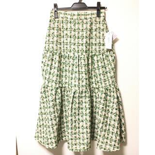 ビッキー(VICKY)の華やかツイードティアードスカート(ロングスカート)
