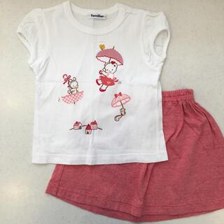 familiar - ファミリア♡半袖 セットアップ 110 ② Tシャツ スカート