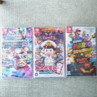 ニンテンドースイッチ(Nintendo Switch)のスーパーマリオ3Dワールド  桃太郎電鉄  マリオカート8(家庭用ゲームソフト)