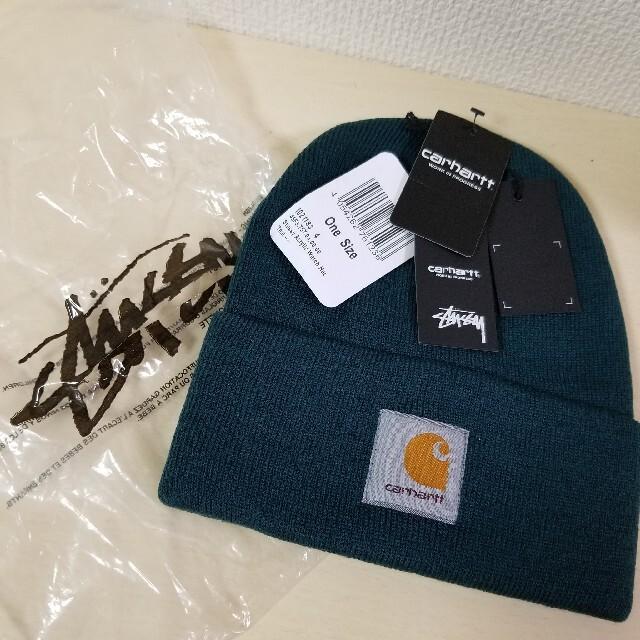 carhartt(カーハート)のカーハート ステューシー Carhartt 新品 ニットキャップ  ビーニー帽子 メンズの帽子(ニット帽/ビーニー)の商品写真