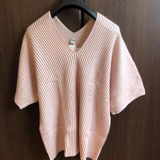 UNIQLO - 【新品】ユニクロ 3DコットンプリーツVネックセーター L