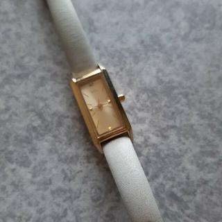 エテ(ete)の腕時計 ete  四角ゴールドフレーム グレー革ベルト(腕時計)