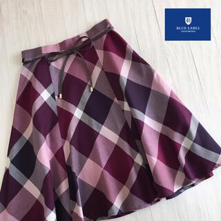 良品☆ブルーレーベルクレストブリッジ チェック柄 スカート 34サイズ