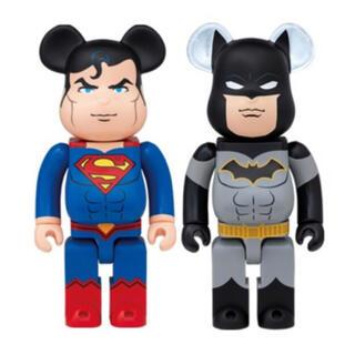 ディーシー(DC)のHappyくじ ベアブリック SP賞 スーパーマン ラストワン賞 バットマン(キャラクターグッズ)