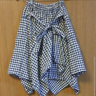 キューティーブロンド(Cutie Blonde)のcutie blonde ギンガムチェック 変形スカート レディース スカート(ロングスカート)