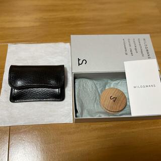 限定 新品未使用 ワイルドスワンズ タング 型押し シェルコードバン ブラック(コインケース/小銭入れ)