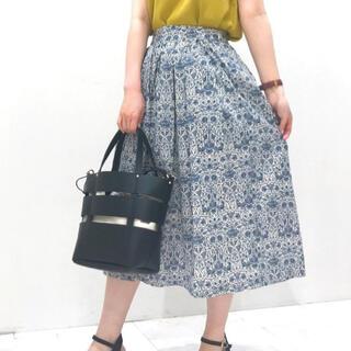 Techichi - テチチ  リバティ ウォールペーパーフラワー柄スカート