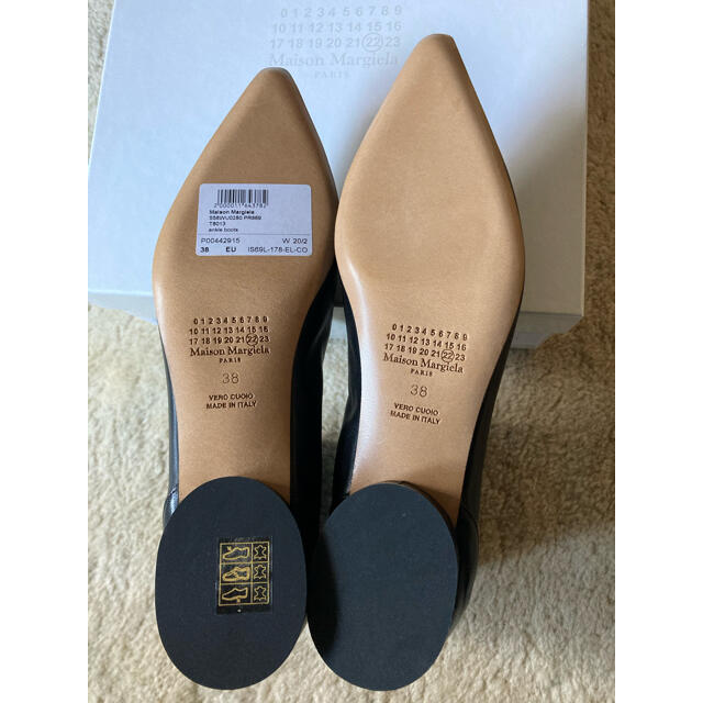 Maison Martin Margiela(マルタンマルジェラ)の38サイズ 4ステッチ レザー アンクルブーツ マルジェラ レディースの靴/シューズ(ブーツ)の商品写真
