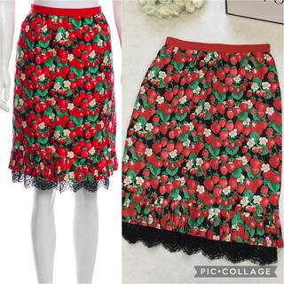 DOLCE&GABBANA - 【美品】DOLCE&GABBANA ドルチェ 最高級 シルク刺繍 スカート