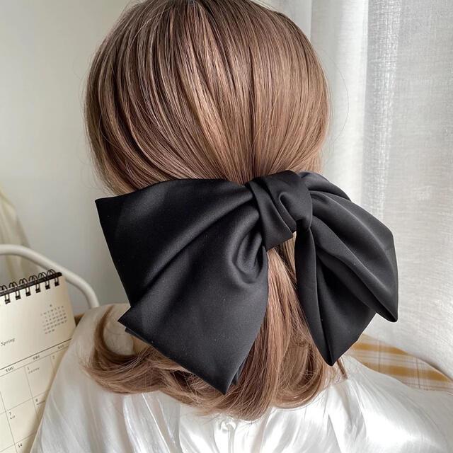 eimy istoire(エイミーイストワール)のビッグサテンリボン ヘアアクセサリー バレッタ レディースのヘアアクセサリー(バレッタ/ヘアクリップ)の商品写真
