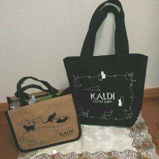 カルディ(KALDI)のカルディ ネコの日 ネコの日プレミアムバッグセット(トートバッグ)