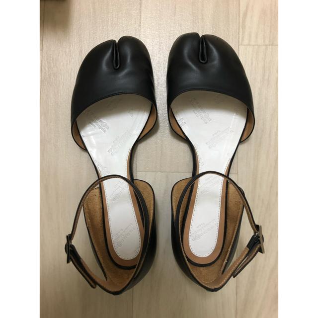 Maison Martin Margiela(マルタンマルジェラ)のMaison Margiela アンクルストラップ 37 ブラック 足袋 レディースの靴/シューズ(バレエシューズ)の商品写真