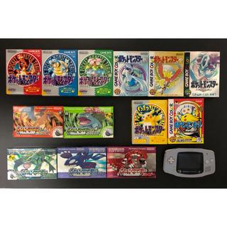 ゲームボーイアドバンス(ゲームボーイアドバンス)のポケモン  ゲームソフト  本体  セット(携帯用ゲームソフト)